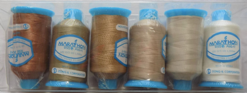 Polyester Marathon Embroidery Machine Thread - Natural Pack